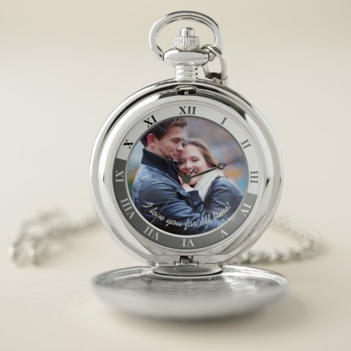 Personalized Pocket Watch - I Love You For All Time!
