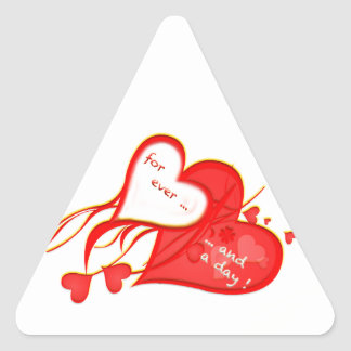 I LOVE YOU FOR EVER AND A DAY HEART TRIANGLE STICKER