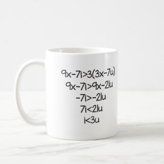 I love you for scientists, math teachers coffee mug