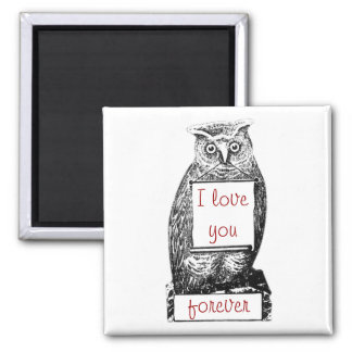 I love you, forever 2 inch square magnet