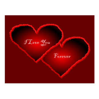 I Love You Forever 3D Heart Postcard