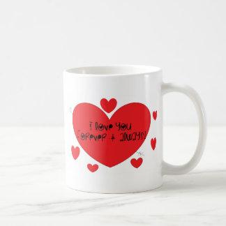 I love you forever and always coffee mug