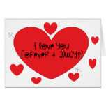 I love you forever and always greeting card