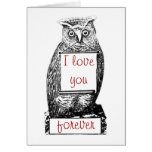 I love you, forever card