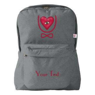 I love you forever Eye heart U eternity Backpack