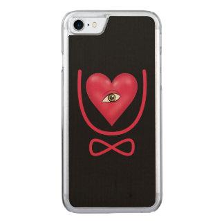 I love you forever Eye heart U eternity Carved iPhone 7 Case