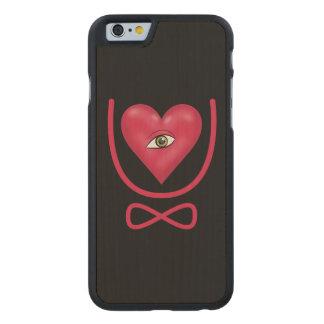 I love you forever Eye heart U eternity Carved Maple iPhone 6 Slim Case