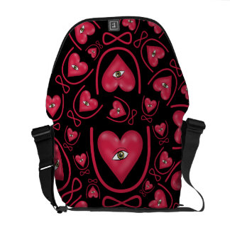 I love you forever Eye heart U eternity Courier Bag