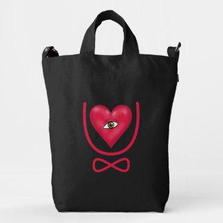 I love you forever Eye heart U eternity Duck Bag