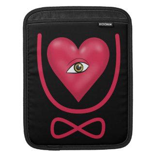 I love you forever Eye heart U eternity Sleeve For iPads