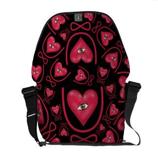 I love you forever Eye heart U eternity Courier Bag