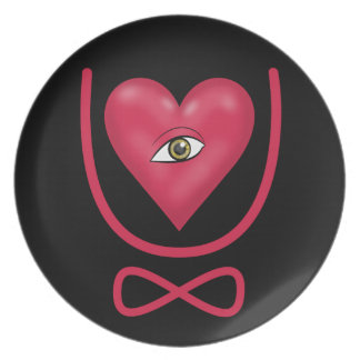 I love you forever Eye heart U eternity Party Plates
