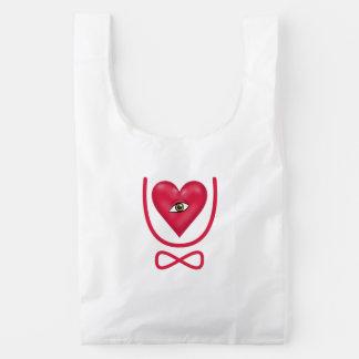 I love you forever Eye heart U eternity Reusable Bag