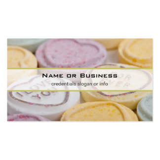 I Love You Forever Sweet Candy Valentine Hearts Business Cards