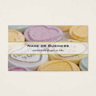 I Love You Forever Sweet Candy Valentine Hearts Business Card