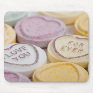 I Love You Forever Sweet Candy Valentine Hearts Mouse Pad