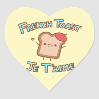 """I love You French Toast"" Sticker"