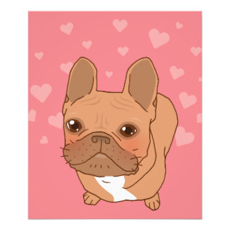 I Love You Frenchie Photo Print