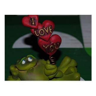 I Love You Frog Postcard