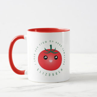 I Love You From My Head Tomatoes Funny Food Pun Mug