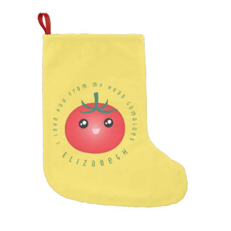 I Love You From My Head Tomatoes Funny Food Pun Small Christmas Stocking