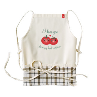 I Love You From My Head Tomatoes Funny Fruit Pun Zazzle HEART Apron