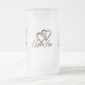 I love You - Frosted White Mug