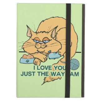 I Love You Funny Cat Graphic Saying iPad Air Cases
