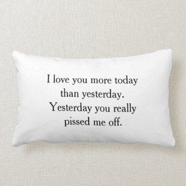 hacheu I Love You Funny Pillow