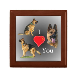 I Love You German Shepherd Keepsake Box