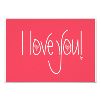 I love you gift enclosure for your special gifts card