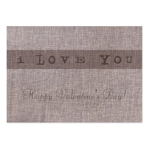 I Love You Gift Tag Business Cards