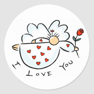 I Love You Giftware Classic Round Sticker