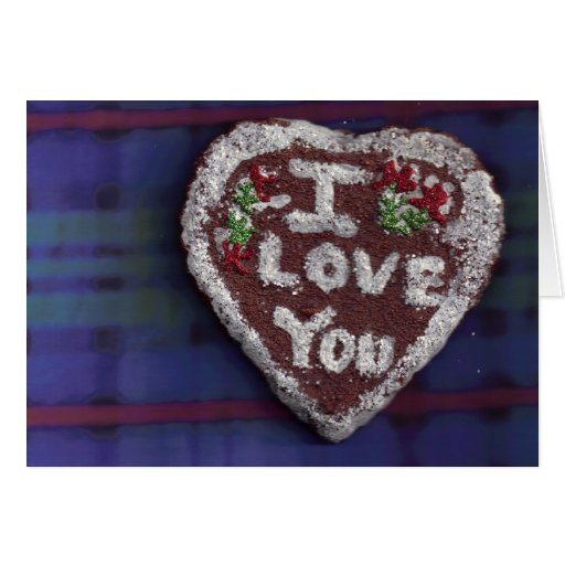 I Love You/Gingerbread Cookie Card