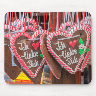 I Love You Gingerbread Hearts At The Holiday Mouse Pad