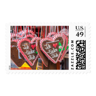 I Love You Gingerbread Hearts At The Holiday Postage Stamp