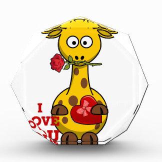 i love you giraffe acrylic award