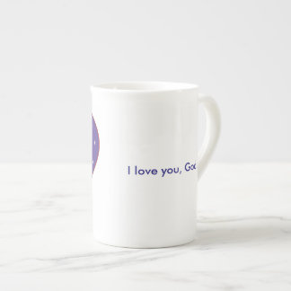 I Love You, God Bone China Mug