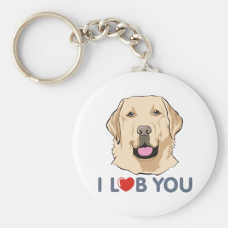I Love You Golden Labrador Retriever Theme Keychain