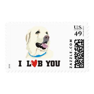 I Love You Golden Labrador Retriever Theme Postage Stamp