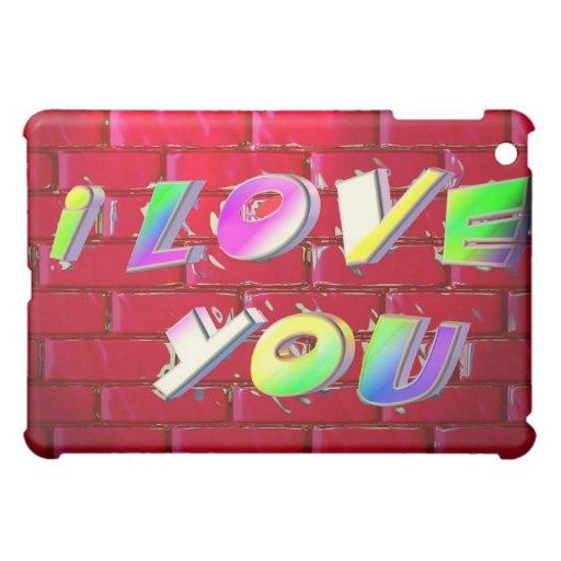 I Love You Graffiti iPad Case
