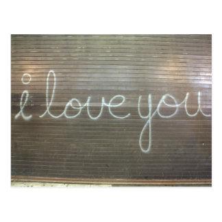 I Love You Graffiti Postcard