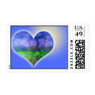 I love you graffitis postage