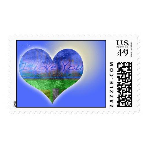 I love you graffitis stamps