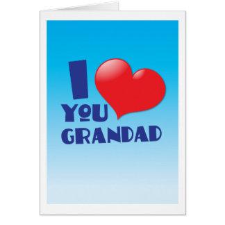 I love you grandad cards