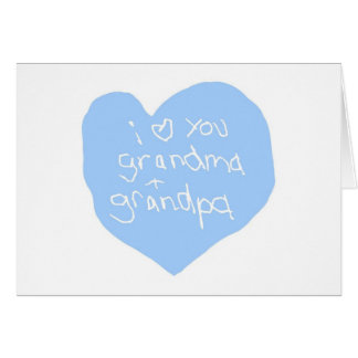 I Love You Grandma And Grandpa Blue Card