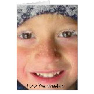 I love you Grandma! Card
