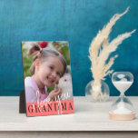 "I Love You Grandma Custom Photo Plaque<br><div class=""desc"">Modern photo plaque featuring single photo of a child and ''I love you Grandma'' in modern lettering on a grey background. Beautiful gift for grandmothers.</div>"