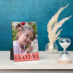 I Love You Grandma Custom Photo Plaque