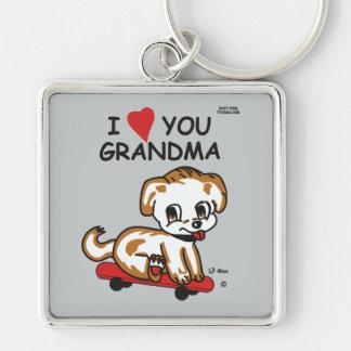 I Love You Grandma Lil Max Keychain